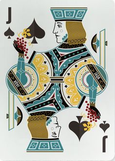 Jack of Spades Cool Playing Cards, Vintage Playing Cards, Vintage Cards, Jack Of Spades, Floral Pattern Vector, Floral Patterns, Design Graphique, Deck Of Cards, Tarot Cards