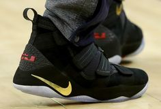 ff2e3b558c34 LeBron James broke out a new colorway of the Nike LeBron Soldier 11 for  Game 2 of the NBA Finals.