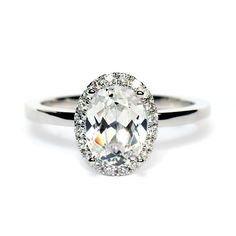 """Sylvie """"Ardeur"""" Collection 18K White Gold Oval Semi-Mount Engagement Ring #sylvie #hudson_poole_jewelers"""