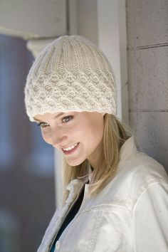 "Classic Elite Yarns--""Forbidden"" Lattice Ribbed Hat"