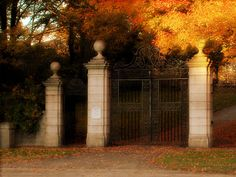old cemetery gate
