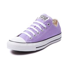 Shop for Converse All Star Lo Sneaker in Lavendar at Journeys Shoes. Shop today for the hottest brands in mens shoes and womens shoes at Journeys.com.The All Star knows no bounds. From b-ball courts to punk clubs. From skateparks to school yards. The Converse All Star has come a long way, and its ready to take you even further. The original Old School never lets up. Lavender canvas upper, rubber outsole.