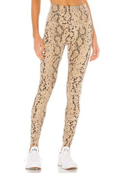 Shop for Varley Century Legging in Mojave Snake at REVOLVE. Free day shipping and returns, 30 day price match guarantee. Leggings Uk, Sports Leggings, Leggings Fashion, Leggings Style, Tights, Revolve Clothing, Online Shopping Stores, Stretch Fabric, Beige