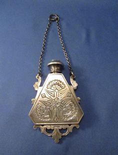 Antique Sterling Vinaigrette Perfume Scent Bottle Chatelaine Chain  #BookofLostFragrances #Supense #Novel