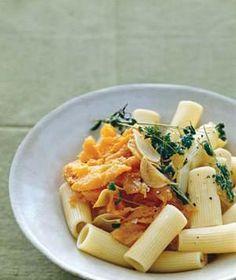Rigatoni With Sweet Potato, Oregano, and Parmesan recipe