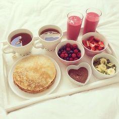 desayuno con tortitas