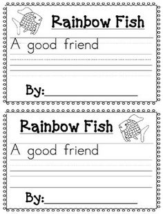 Rainbow Fish Gives a Precious Scale to Small Fish coloring page . - Fish Gives a Precious Scale to Small Fish coloring page .Rainbow Fish No-Sew CostumeRainbow Fish CostumeMooiste vis van Rainbow Fish Activities, Rainbow Fish Crafts, Rainbow Fish Eyfs, Beginning Of Kindergarten, Kindergarten Writing, Rainbow Fish Book, Story Elements Worksheet, Friendship Activities, 1st Grade Writing