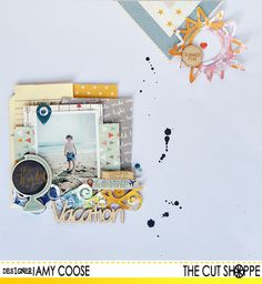 "The Cut Shoppe: Layout by Amy Coose uses ""Make a Splash"" cut file."