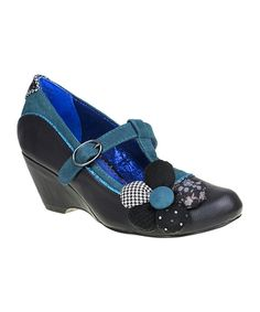 Take a look at this Black Pick a Posy Pump on zulily today!