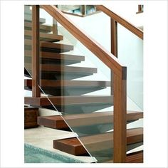 Wooden Staircase Railing, Glass Stair Railing, Wooden Stairs, Glass  Balustrade, Glass Stairs