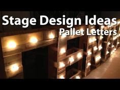 Church Stage Design :: Pallet Letters - YouTube