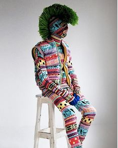 Sibling's knitwear range for guys is fun. Their zany Scare Isle Knit Monster appears to be just for show.