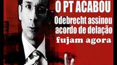 """FUJAM  ! EXECUTIVOS DA Odebrech ASSINARAM o acordo da MEGA DELAÇÃO  """"a d..."""