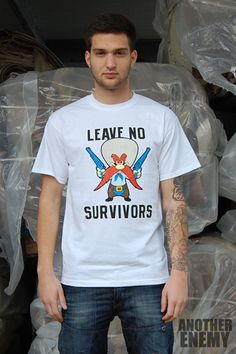 Leave No Survivors T-Shirt in White - $16.00 www.anotherenemy.com Another Enemy
