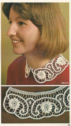 Romanian Point Lace crochet collar in Anna Burda magazine, March 1981