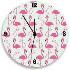 Flamingo Wall Clock Children Wall Clock With by KidODesignStudio