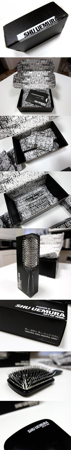 SHU UEMURA ART OF HAIR PACKAGING --CB--