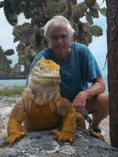 The land iguana from the Galapagos Islands. It's man sized!