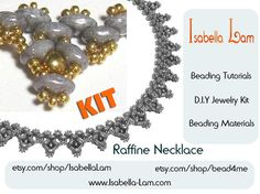 Raffine SuperDuo Beadwork Necklace DIY Beading Kit by bead4me, $33.00