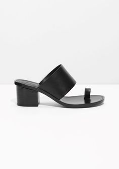 & Other Stories Toe Slide Sandal in Black