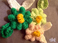 Flores fuxico de croche   Flickr - Photo Sharing!