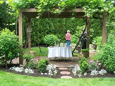 Jurisdobes: June 2010 Front Yard Landscaping, Arbors, Pergolas, Raised Beds, Outdoor Living, Gardens, Outdoor Life, Raised Garden Beds, Pergola