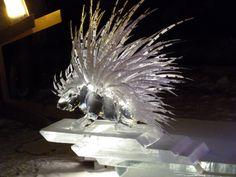 Porcupine Ice Sculpture