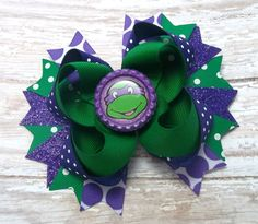 Hey, I found this really awesome Etsy listing at https://www.etsy.com/listing/223877534/turtles-hair-bow-boutique-hair-bows-baby