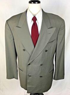 GIORGIO ARMANI MANI Blazer Mens 44 Beige Double Breasted Sport Coat Jacket 44L #Mani #DoubleBreasted