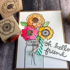 Create your own arrangement. Love the new larger jar from Savvy Stamps