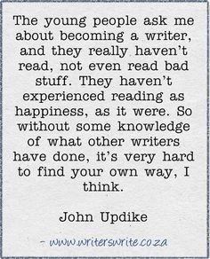 JOHN  UPDIKE on being a writer