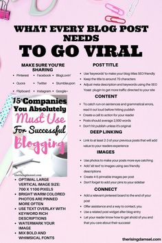 How to make your blog post go viral everytime! When I started to use this guide my traffic went crazy! This made a huge difference to how i structured my posts. Love every secret tip! #viraltips #newbloggertips #newblogger #Blogger #girlboss #bloggergirl #newblog #tipsandtricks