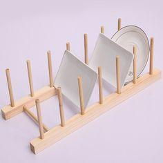 Novo 1 conjunto de cozinha de madeira Rack de armazenamento utensílios de cozinha escorredor de pratos pratos de jantar titular DIY titular acessórios de cozinha 671545 em Prateleiras e cabides de Casa & jardim no AliExpress.com | Alibaba Group