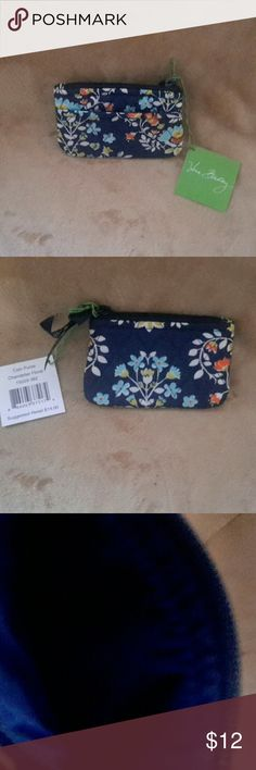 NWT Vera Bradley Coin Purse Chandelier Floral - New with Tag - Pattern: Chandelier Floral - 1 outside Pocket Vera Bradley Bags Wallets