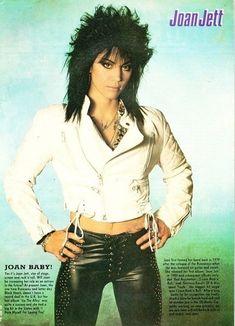 How can I do my hair like Joan Jett's? Joan Jett, Pop Rock, Rock N Roll, Rock Box, Heavy Metal, Rock Y Metal, Rock Queen, Women Of Rock, Estilo Rock