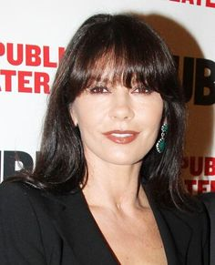 The Best Celebrity Bangs - Catherine Zeta-Jones from Celebrity Bangs, Catherine Zeta Jones, Big Bang Theory, Bigbang, Good Things, Celebrities, Hair, Beauty, Amazing