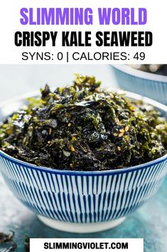 This Slimming World crispy kale seaweed recipe is the perfect side dish when you're serving up a Chinese fakeaway! Slimming World Fakeaway, Slimming World Dinners, Slimming World Recipes Syn Free, Slimming Eats, Chinese Fakeaway, Crispy Seaweed, Sea Weed Recipes, Speed Foods, Eating Vegetables