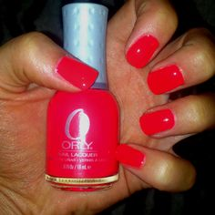 Orly- Hot Shot :). LOVING this one for summer.