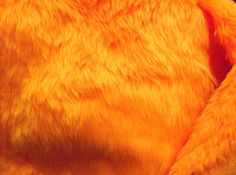 Plain-Fun-Faux-Fur-Fabric-Material-BRIGHT-ORANGE