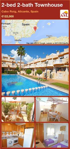 2-bed 2-bath Townhouse in Cabo Roig, Alicante, Spain ►€122,000 #PropertyForSaleInSpain