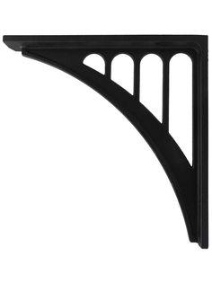 Cast Aluminum Bridge-Style Shelf Bracket | House of Antique Hardware L Bracket Shelves, Antique Hardware, Cabinet Hardware, Wall Mounted Desk, Art Deco Buildings, Grand Homes, Wood Screws, Furniture Styles, Art Deco Fashion