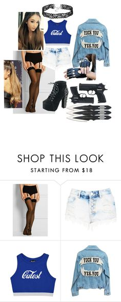 """""""Untitled #11"""" by dragonkhaleesi ❤ liked on Polyvore featuring Wolford and Boohoo"""