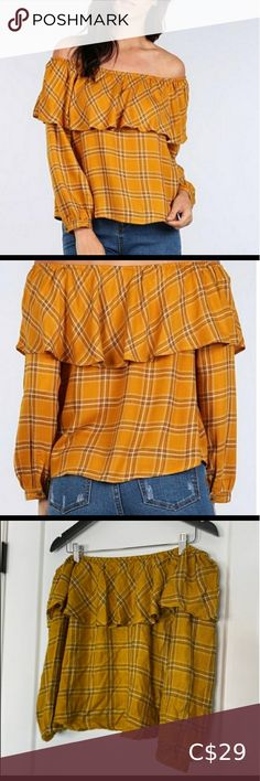 Off shoulder top size medium Great preloved condition Size medium 100% rayonne Sweet Wanderer Tops Blouses Burnt Orange Top, Velvet T Shirt, Navy Blue Blouse, Linens And Lace, Bcbgmaxazria Dresses, Off Shoulder Tops, Large Size Dresses, Blue Tops, Blouse Designs