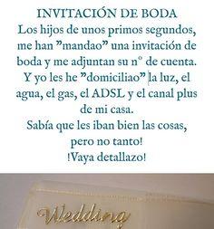 Humor: invitación de boda