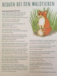 """Bewegungsgeschichte """"Wir gehen in den Wald"""" Mehr"""