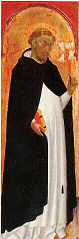 Bartolo di Fredi - Pala della Trinità, dettaglio San Domenico  - 1397 - Musée des beaux-arts de Chambéry