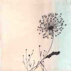 Watercolor and ink illustration for spring