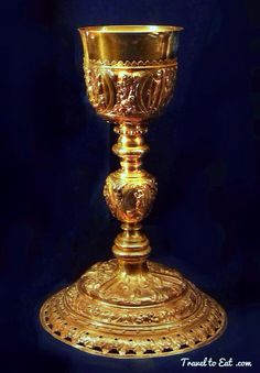 Gold Chalice 17th Century. Treasures of the Tau Palace, Reims