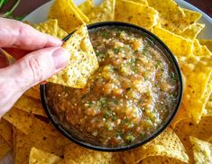 This is a delicious Salsa to add to your repertoire! It uses both tomatoes and tomatillos to create a completely unique flavor. Tomatillo Recipes, Roasted Tomatillo Salsa, Tomatillo Sauce, Mexican Dishes, Mexican Food Recipes, Healthy Recipes, Paleo Food, Yummy Recipes, Sauces