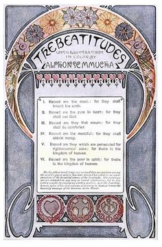 The Beatitudes, with illustrations in color by Alphonse Mucha. Published in Everybody's Magazine, Christmas, 1906